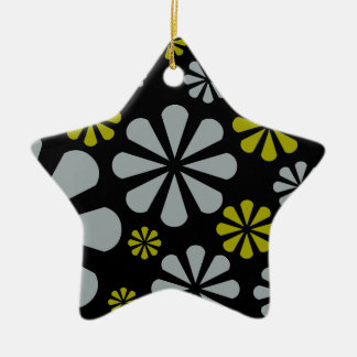 Abstract Flowers ornament, customize Christmas Ornament