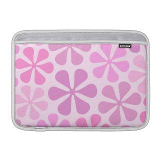 Abstract Flowers Pinks MacBook Sleeve