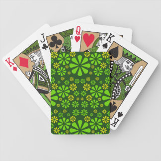 Abstract Flowers playing cards
