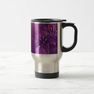Abstract Flowers Purple Lillies Coffee Mugs