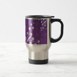 Abstract Flowers Purple Pattern Coffee Mug