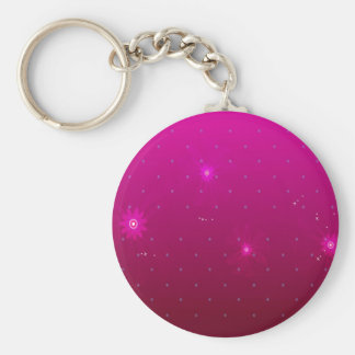 Abstract Flowers Purple Relax Key Ring