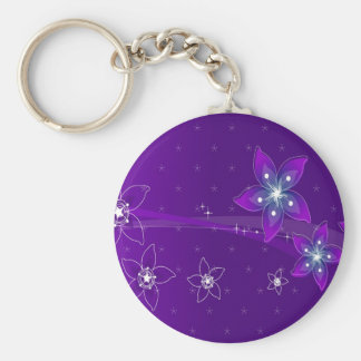 Abstract Flowers Purple Various Key Chains