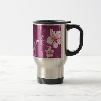 Abstract Flowers Purple Wave Coffee Mug