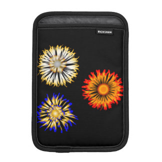 Abstract Flowers Sleeve For iPad Mini