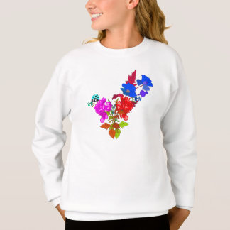 Abstract Flowers Sweatshirt