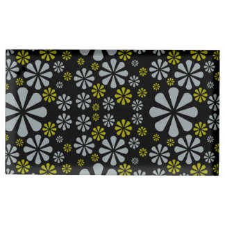 Abstract Flowers table card holder