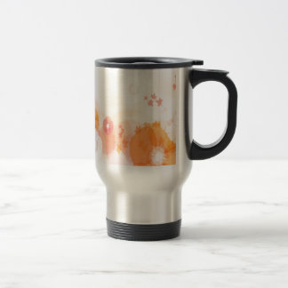 Abstract Flowers Warm Colors Leaf Splash Coffee Mugs