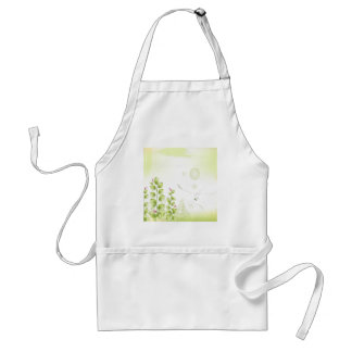 Abstract Flowers White Plant Aprons
