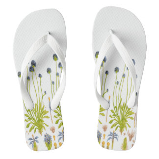 Abstract Flowers Women's Flip Flops