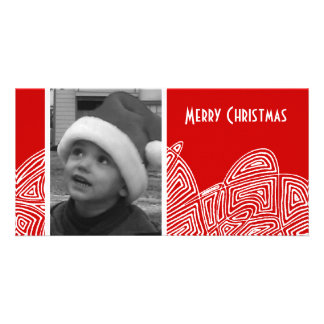Abstract Flurry Photo Greeting Card