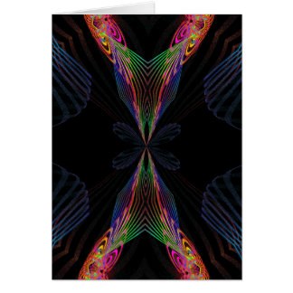 Abstract fly card