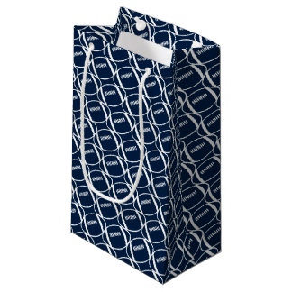 Abstract footballs small gift bag