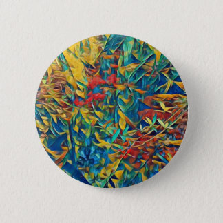 Abstract Forest 6 Cm Round Badge