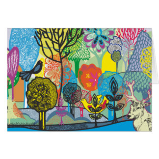 abstract forest greeting cards