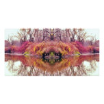 Abstract Forest Creek Reflection Photo Card Template