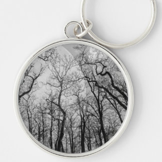 "Abstract  forest ""customize color"" key chain"