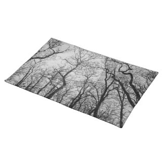 "Abstract  forest ""customize color"" place mat"