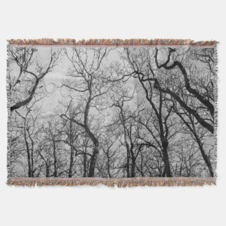 """Abstract  forest """"customize color"""" throw blanket"""