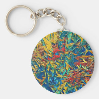 Abstract Forest Key Ring