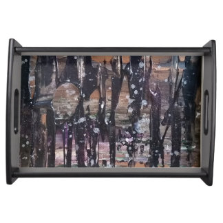 Abstract Forest Serving Tray