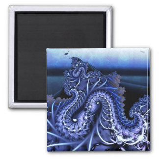 abstract fractal art (147) square magnet