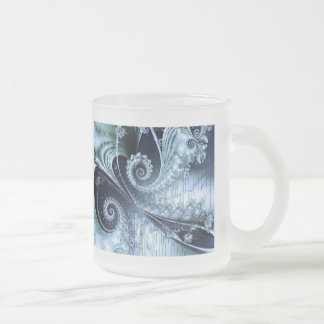 abstract fractal art (148) frosted glass mug