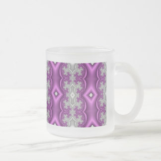 abstract fractal art (26) frosted glass mug