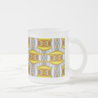 abstract fractal art (28) frosted glass mug