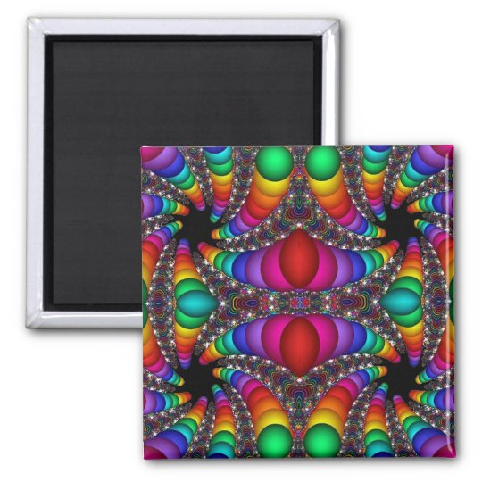 abstract fractal art (29) square magnet