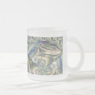 abstract fractal art (2) frosted glass mug