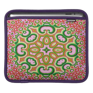Abstract Fractal Art Pink And Green iPad Sleeve