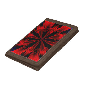 Abstract Fractal Art Tri-fold Wallets