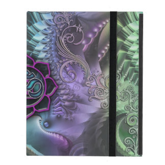 Abstract Fractal Fantasy Lotus OM iPad Case