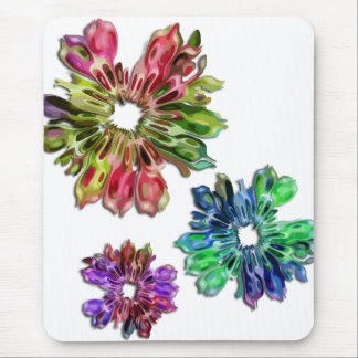 abstract fractal flowers 2D Mouse Pad
