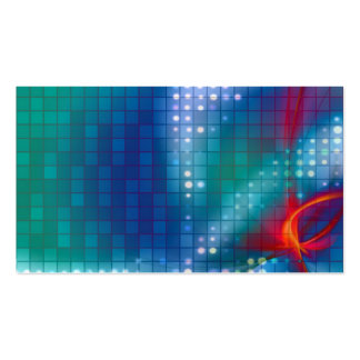 Abstract Fractal Grid Background Business Cards