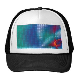 Abstract Fractal Grid Background Trucker Hat