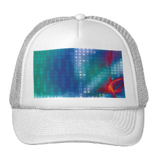 Abstract Fractal Grid Background Trucker Hats