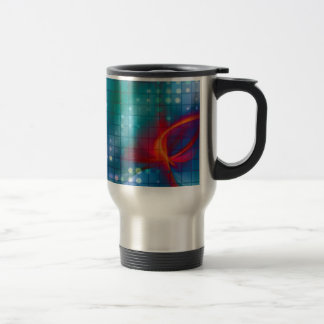 Abstract Fractal Grid Background Mugs