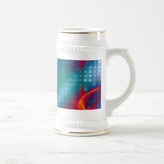 Abstract Fractal Grid Background Coffee Mugs