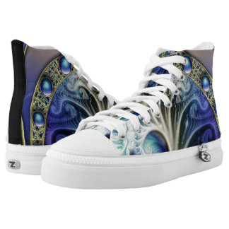 Abstract Fractal High Tops