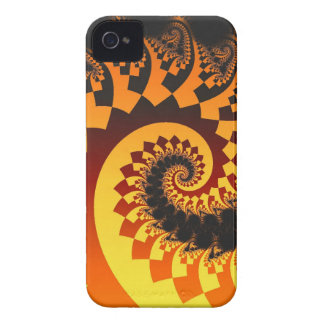 Abstract fractal iPhone 4 case The Fire Spiral