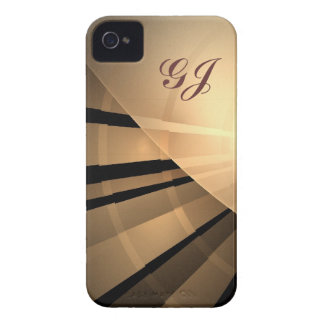 Abstract fractal iPhone 4 case with monogram