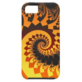 Abstract fractal iPhone 5 case The Fire Spiral