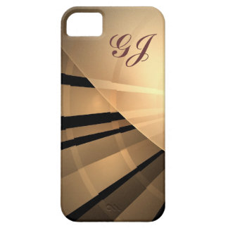 Abstract fractal iPhone 5 case with monogram