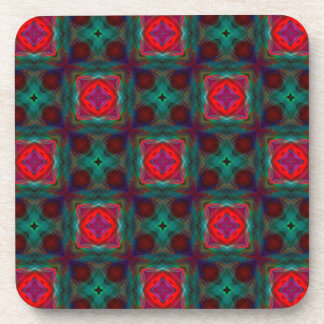 Abstract Fractal Pattern Coasters