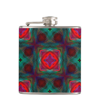 Abstract Fractal Pattern Flasks