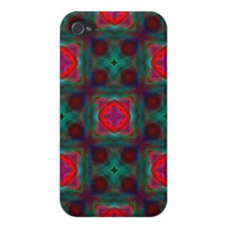 Abstract Fractal Pattern iPhone 4/4S Cases