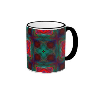 Abstract Fractal Pattern Coffee Mugs