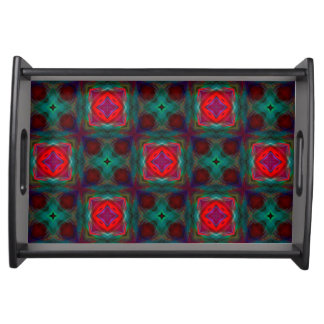 Abstract Fractal Pattern Food Tray